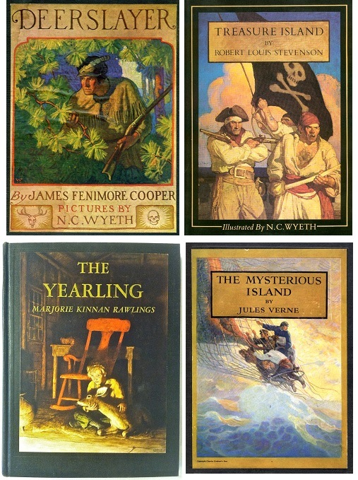 N. C. Wyeth illustrated 25 Scribner Classics from 1911 to 1939.