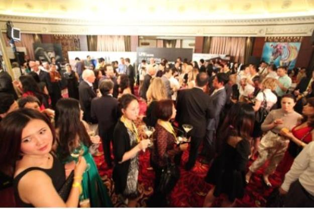 Red carpets and canapés: an auction preview at Sotheby's Beijing facility.