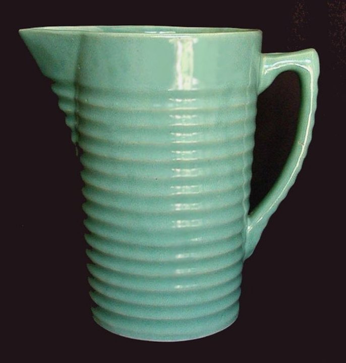 The beer pitcher (and accompanying mugs) was produced to celebrate and capitalize on the repeal of Prohibition. They had a relatively short production and are not easy to find.
